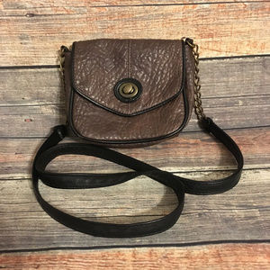 American eagle brown faux leather crossbody bag